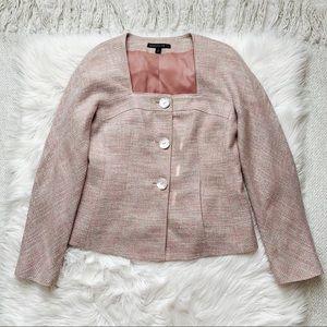 Lafayette 148 Pink Tweed Blazer